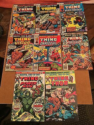 Lot  11 comics US Marvel Two in One (the Thing) trés  bel état: Ron  Wilson!