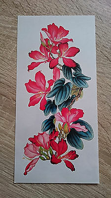 21x10cm Sheet-High-Quality-Fake-Tatto-Party-Red-Flower-Sexy-Waterproof-Temporary
