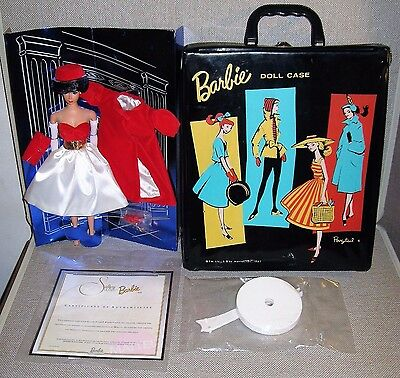 BARBIE Silken Flame Repro Doll + Vntge 1961 Ponytail Doll Case in Good Condition