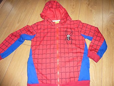 BOYS Red / Blue  Spider Web Design HOODIE AGE 8-9 YEARS