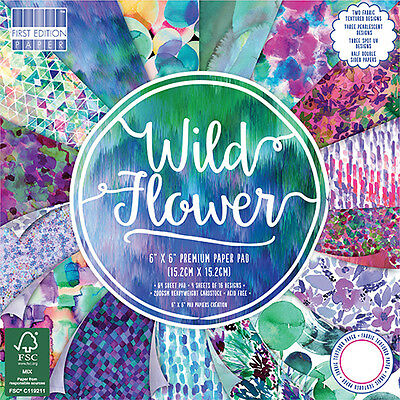 """WILD FLOWER - First Edition Papers - 6""""x6"""" Taster Pack of Papers"""