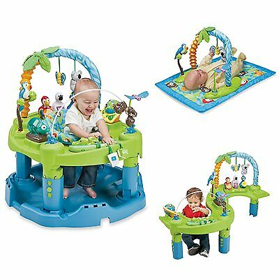 Evenflo Baby Infant Exersaucer Triple Fun Entertainer Play Life In The Amazon