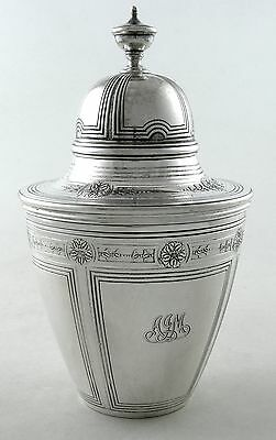 Sterling Tiffany MAKERS 18372 tea caddy (1913)