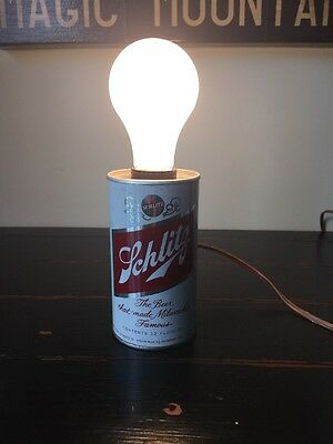 Vintage Schlitz Beer Can Table Lamp BEER