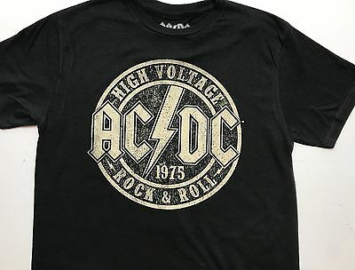 ACDC High Voltage Rock & Roll 1975 T Shirt Black