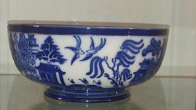 Beautiful  Doulton Burslem 'Willow' Large Footed Bowl C 1891+