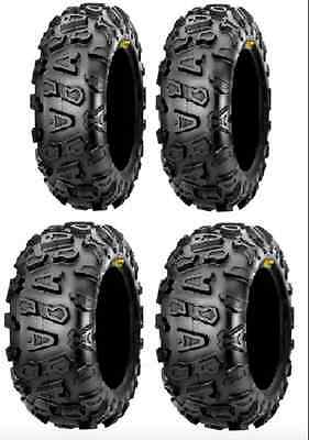 Full set of Maxxis CST Abuzz (6ply) 26x8-12 and 26x10-12 ATV Tires (4) Outlander