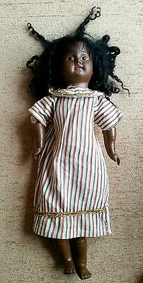 Antique Early Bisque Black Doll