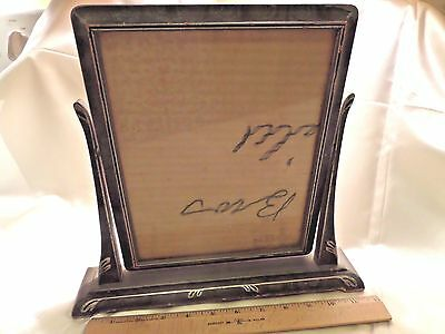 Vintage Wood Swivel Picture Frame, 7X9-And-1/4, Black W/silver Accents