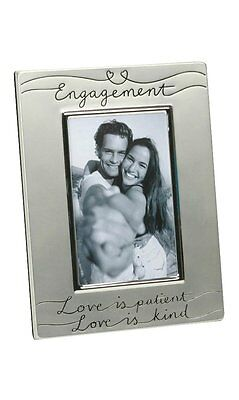 "Two Tone Silver Plated Engagement 4"" x 6"" Photo Frame"