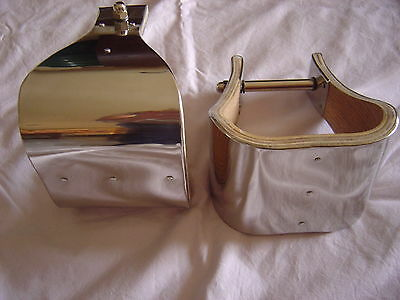 "5"" MONEL (Stainless) BELL STIRRUPS - USA - (NEW OTHER) but EXCELLENT!"