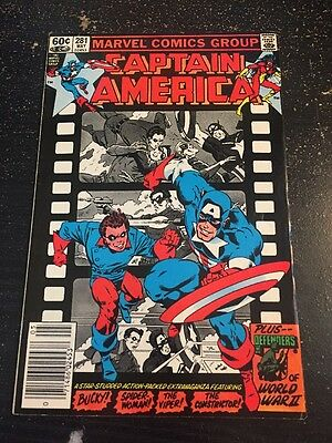 Captain America#281 Awesome Condition 6.0(1983) Zeck Art, Bucky, Constricter App