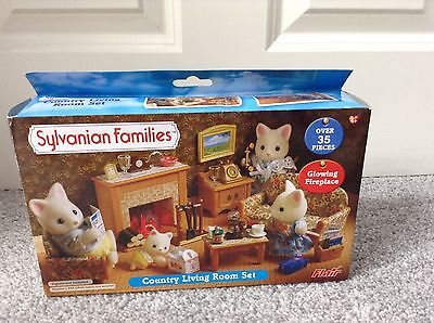 sylvanian families country living room furniture set boxed picclick uk. Black Bedroom Furniture Sets. Home Design Ideas
