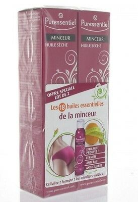 PURESSENTIEL Minceur LOT de 2 Huiles sèches Anti-cellulite 100ml