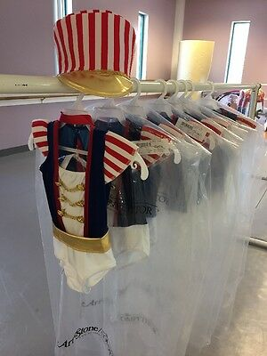 Art Stone Lot Of 8 Dance Costumes Red/White/Blue NWT Sizes SC(3), MC(4), LC(1)