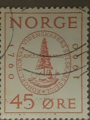 norway 1960 postage stamp 20th anniversary of the society of sciences