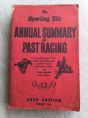 Vintage Book The Sporting Life Annual Summary Of Past Racing 1955 Horse Racing