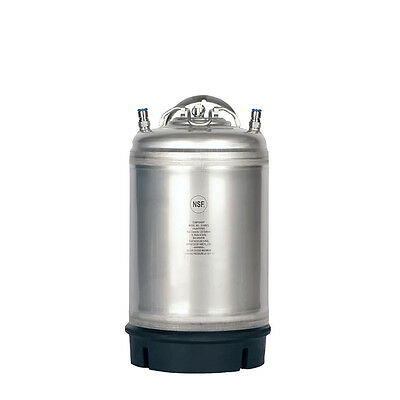 3 Gallon Ball Lock Keg New -Homebrew Tap Beer -Cold Brew Coffee -Free Shipping