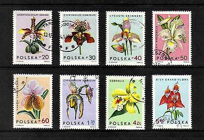 Poland 1965 Orchids short set of 8 values used