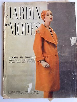 Vintage Jardin Des Modes Magazine October 1954. French. A Couple Of Loose Pages.