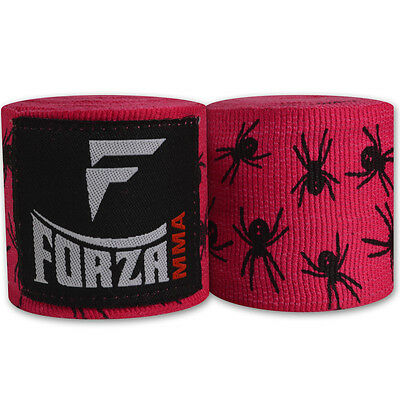 """Forza 180"""" Mexican Style Boxing Handwraps - Spider Hot Pink"""