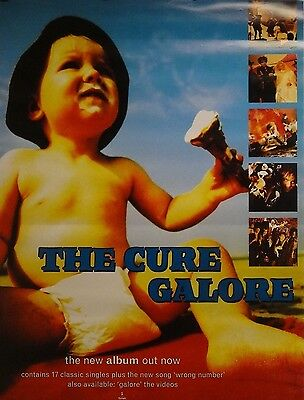 The Cure 18x24 Galore Promo Music Poster 1997 Robert Smith Original S504