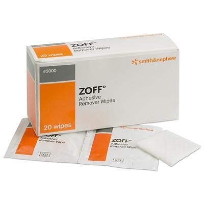 Zoff Plaster Adhesive Remover Wipes - Multi Quantity of Single Wipes