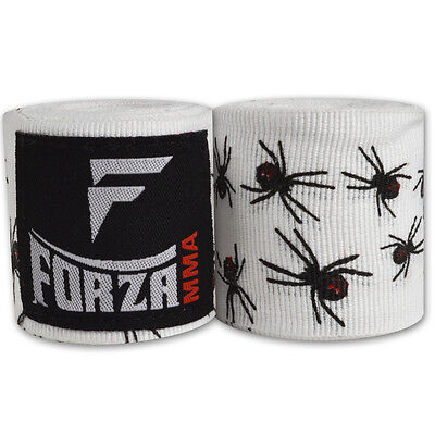 """Forza 180"""" Mexican Style Boxing Handwraps - Spider White"""