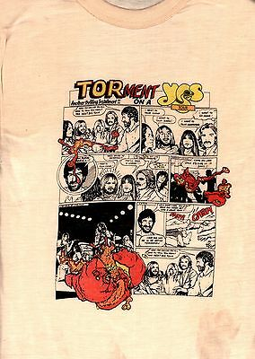 Yes 1979 Tormato Tour  Vintage Medium Concert Tee T Shirt / Jon Anderson