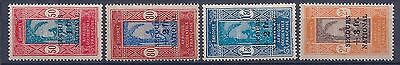 Dahomey - 145/148 Secours National Serie Complete N** Mnh Luxe