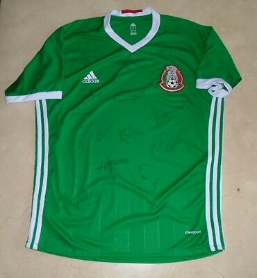 2017 Mexico Home Jersey hand signed autographed by Squad Team W/COA Chicharito