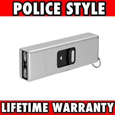 SILVER TACTICAL SELF DEFENSE 999 MV MINI RECHARGEABLE POLICE STUN GUN Keychain