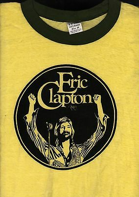Eric Clapton 1975 There's One In Every Crowd Tour Vintage Concert Tee T Shirt