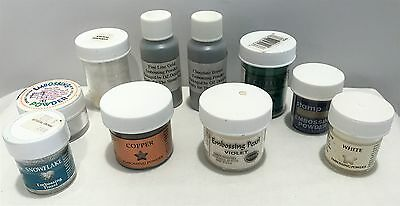 EMBOSSING POWDERS PSX Copper White Gold Green Lot