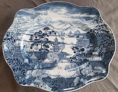 1940's Johnson Brothers Staffordshire England Serving Plate The Enchanted Garden