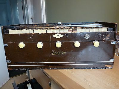 Rare Vintage Indian Harmonium In Need Of Careful Restoration - Does Play Look