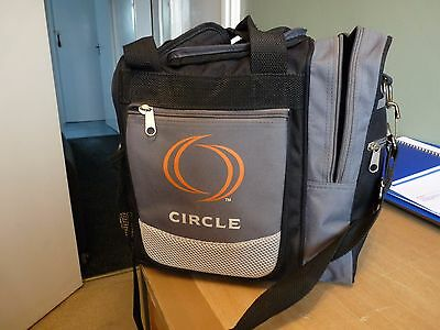 Quality Circle Bowling Ball Bag - 6 Sections & Ball Rest - Great Condition Look!