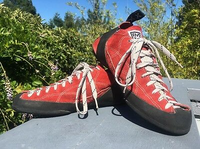 Five Ten 5.10 Coyote Lace Up Stealth C4 Rock Climbing Shoes Men 9.5 Red Laceup