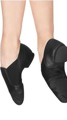 NEW capezio Adult ej2 e series slip on jazz dance shoe black caramel NIB