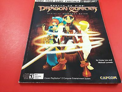 Breath of Fire Dragon Quarter Brady [Strategy Guide] (Sony Playstation 2 PS2)