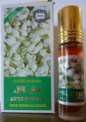 JASMINE CONCENTRATED PERFUME OIL ATTAR FULL 8ML ROLL ON by AHSAN 100% GENUINE.