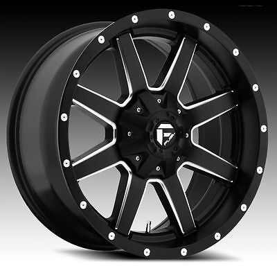 20x9 Fuel Maverick D538 Rims Black Offroad Wheels Tires Fit Lifted Chevy Ford