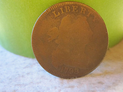 1798/7 Draped Bust Large Cent Very Rare (1C)