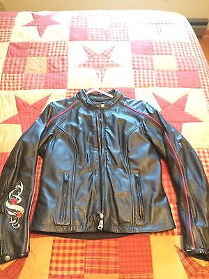 Ladies Misses Convertible Authentic Harley Davidson Leather Jacket M