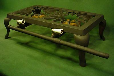 Vintage Antique Simplex Cast Iron Gas  Waffle Grill Canning Camping Stove