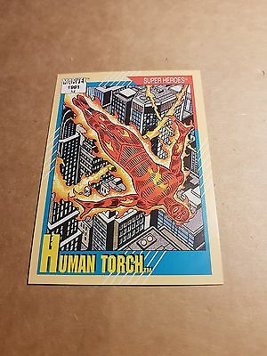 Marvel Universe 1991 Series 2 Card #10 Human Torch