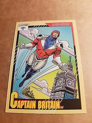 Marvel Universe 1991 Series 2 Card #12 Captain Britain