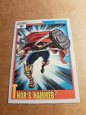 Marvel Universe 1991 Series 2 Card #128 Thor's Hammer