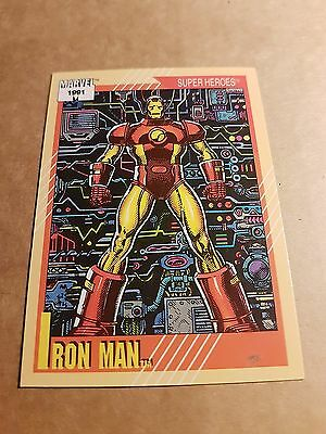 Marvel Universe 1991 Series 2 Card #13 Iron Man
