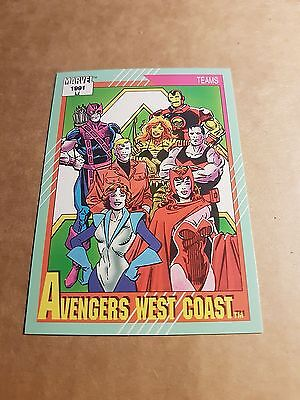 Marvel Universe 1991 Series 2 Card #152 Avengers West Coast